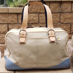 Coach duffle weekender luggage bag